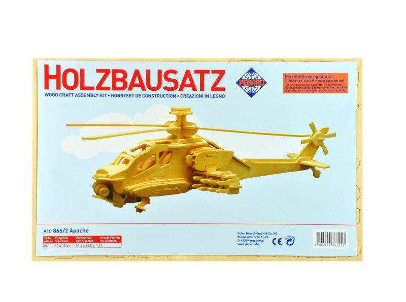 "Фото - Заготовка из фанеры 3D пазл ""Вертолет Apache"" Pebaro"